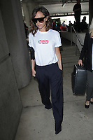 LOS ANGELES, CA - APRIL 17: Victoria Beckham seen at LAX International airport on her 43rd birthday in Los Angeles, California on April 17, 2017. <br /> CAP/MPI/JM<br /> &copy;JM/MPI/Capital Pictures