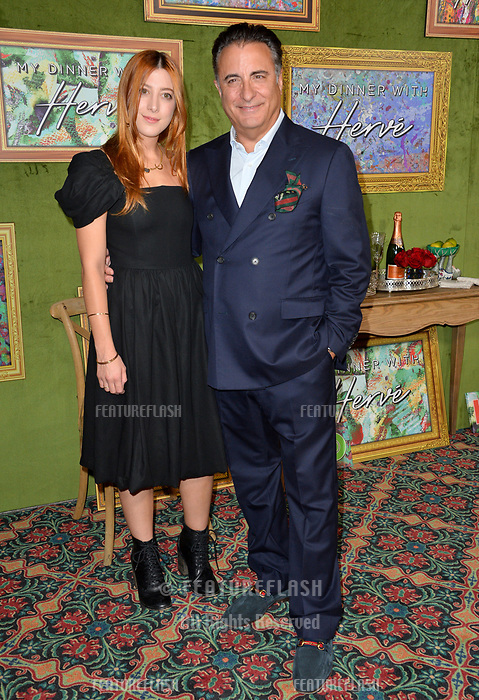 LOS ANGELES, CA. October 04, 2018: Andy Garcia &amp; Daniella Garcia-Lorido at the Los Angeles premiere for &quot;My Dinner With Herve&quot; at Paramount Studios.<br /> Picture: Paul Smith/Featureflash