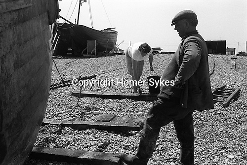 Fisherman and wife Dungeness Kent 1969.<br />