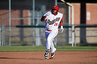 Auburn Doubledays first baseman Jamori Blash (26) runs the bases during a game against the Batavia Muckdogs on June 15, 2018 at Falcon Park in Auburn, New York.  Auburn defeated Batavia 5-1.  (Mike Janes/Four Seam Images)