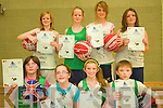 Twins: Four sets of twins took part in Causeway Basketball camp last week .Back L-R Vickey and Suzanne Barron and  Tara and Shannon Lowe.Front L-R Louise and Freya  Casey and Shelley and Evan Stack