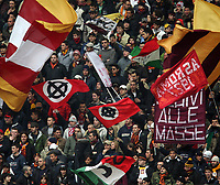 Roma 29/1/2006 Campionato Italiano Serie A<br /> Roma Livorno 3-0<br /> AS Roma fans holds Celtic flags during an Italian major league soccer match against Livorno at the Olympic stadium<br /> Croci celtiche sventolate nella curva della Roma<br /> Photo Andrea Staccioli Insidefoto