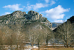Seneca Rocks, Seneca Rocks National Recreation Area, West Virginia, USA