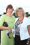 Mary Regan and Frances Guerin at the Bellewstown Races..Picture Jenny Matthews/Newsfile.ie