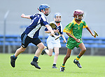 David Lyons of Bridgetown in action against Martin Bon of Kilkishen/O Callaghan's Mills during their Schools Division 5 final at Cusack Park. Photograph by John Kelly