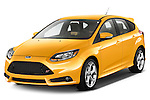 Front three quarter view of 2013 Ford Focus ST Stock Photo