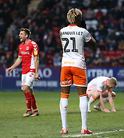 Blackpool's Armand Gnanduillet cannot believe it after he misses a guilt edge chance<br /> <br /> Photographer David Shipman/CameraSport<br /> <br /> The EFL Sky Bet League One - Charlton Athletic v Blackpool - Saturday 16th February 2019 - The Valley - London<br /> <br /> World Copyright © 2019 CameraSport. All rights reserved. 43 Linden Ave. Countesthorpe. Leicester. England. LE8 5PG - Tel: +44 (0) 116 277 4147 - admin@camerasport.com - www.camerasport.com