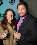 Heather and Jonathan Schiappa at Martini Madness at the Center for Contemporary Craft Thursday Jan. 22,2015.(Dave Rossman For the Chronicle)