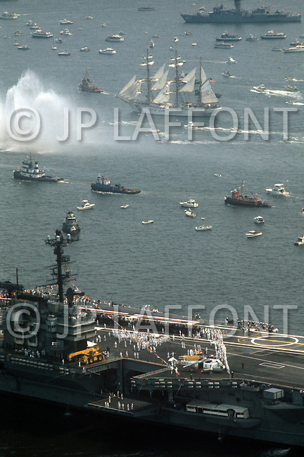 New York City, New York, July 4th, 1976 - Celebration of America's Bicentenial.