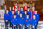 Pupils from Kilmurry NS with Bishop Ray Browne Principal and Fr Maurice Brick and Principal Therese Kearney at the Confirmation in St Stephens and Johns church Castleisland on Thursday