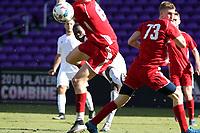 Orlando, Florida - Wednesday January 17, 2018: Francis Atuahene. Match Day 3 of the 2018 adidas MLS Player Combine was held Orlando City Stadium.