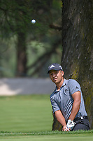 Xander Schauffele (USA) chips onto 11 during round 2 of the World Golf Championships, Mexico, Club De Golf Chapultepec, Mexico City, Mexico. 3/2/2018.<br /> Picture: Golffile | Ken Murray<br /> <br /> <br /> All photo usage must carry mandatory copyright credit (&copy; Golffile | Ken Murray)