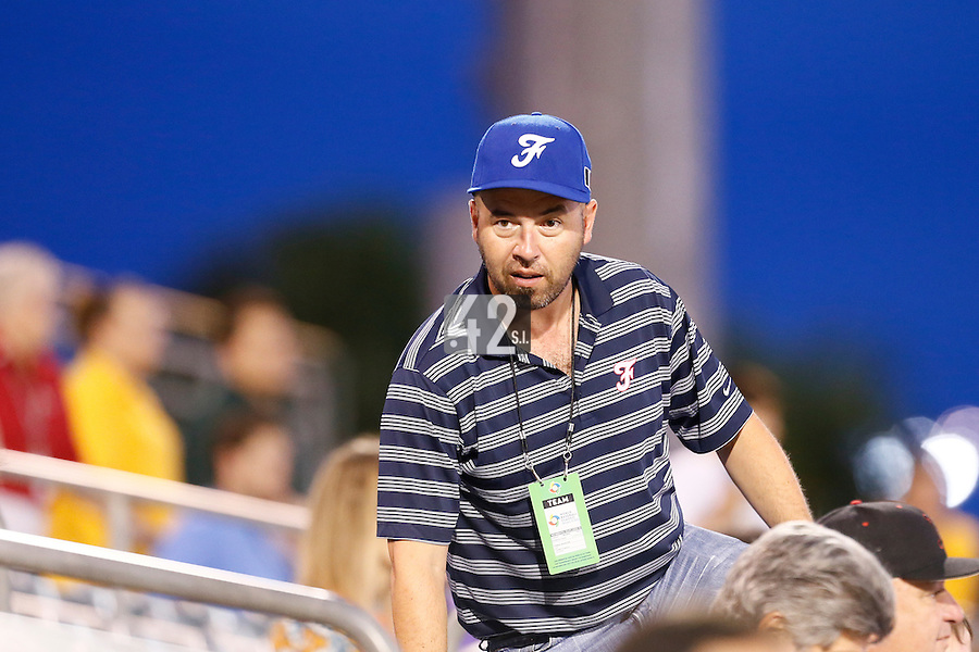 20 September 2012: French Federation of Baseball President Didier Seminet is seen during Spain 8-0 win over France, at the 2012 World Baseball Classic Qualifier round, in Jupiter, Florida, USA.