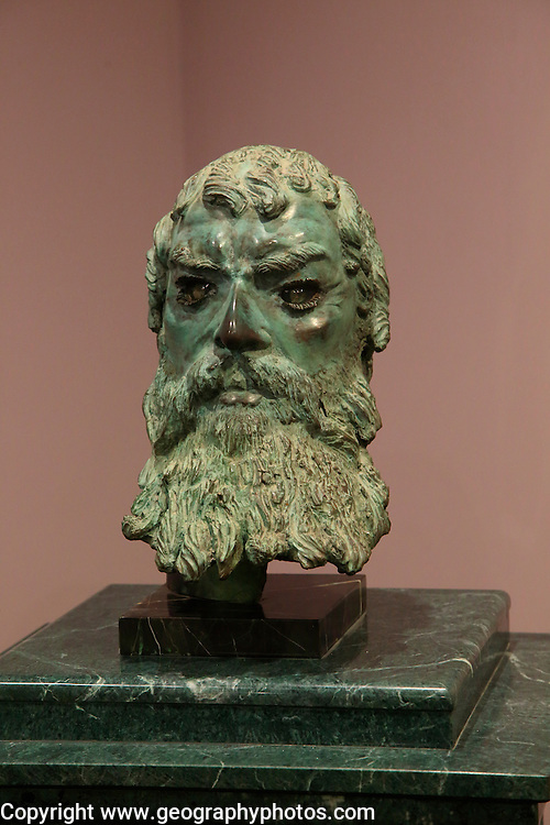 Bronze head sculpture of Thracian King Seuthes III,  Kazanlak museum, Bulgaria