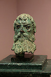 Bronze head sculpture of Thracian King Seuthes III,  Kazanlak museum, Bulgaria