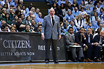 CHAPEL HILL, NC - DECEMBER 03: Tulane head coach Mike Dunleavy, Sr. The University of North Carolina Tar Heels hosted the Tulane University Green Wave on December 3, 2017 at Dean E. Smith Center in Chapel Hill, NC in a Division I men's college basketball game. UNC won the game 97-73.