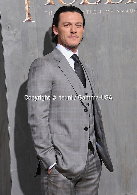 Luke Evans  arriving at The Hobbit Premiere at the Dolby Theatre in Los Angeles.