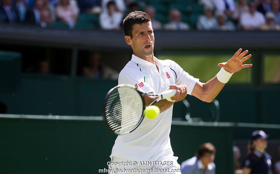 NOVAK DJOKOVIC (SRB)<br /> <br /> TENNIS - THE CHAMPIONSHIPS - WIMBLEDON 2015 -  LONDON - ENGLAND - UNITED KINGDOM - ATP, WTA, ITF <br /> <br /> &copy; AMN IMAGES