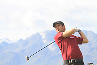 Thomas Aiken (RSA) on the 18th on the 1st day of the Omega European Masters, Crans-Sur-Sierre, Crans Montana, Switzerland..Picture: Golffile/Fran Caffrey..