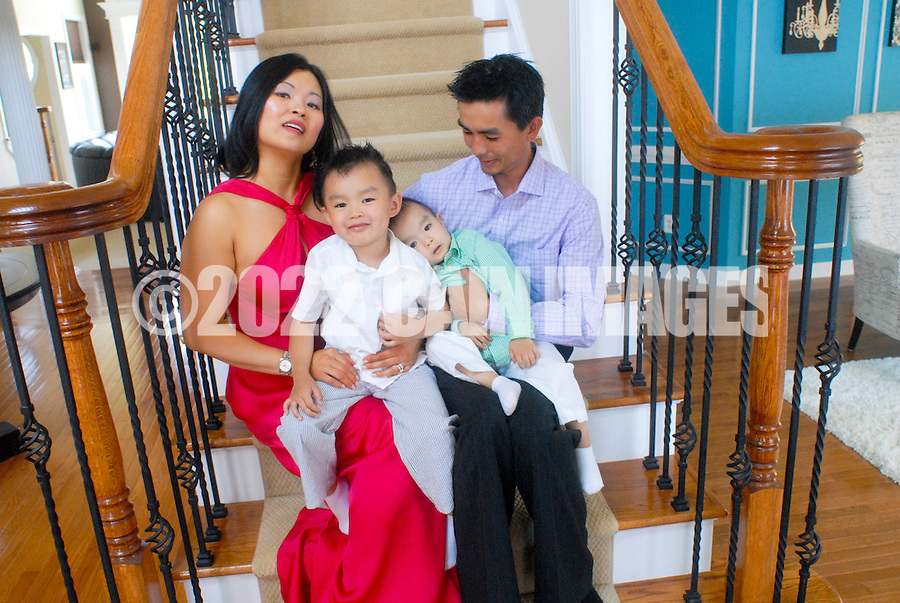 SELLERSVILLE, PA - JUNE 10: The Luu-Nguyen family is photographed June 10, 2012 in Sellersville, Pennsylvania. (Photo by William Thomas Cain/Cain Images)