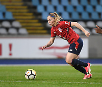 2018013 - LILLE , FRANCE : LOSC's Jana Coryn pictured during the women soccer game between the women teams of Lille OSC and Paris Saint Germain  during the 13 th matchday for the Championship D1 Feminines at stade Lille Metropole , Saturday 13th of January ,  PHOTO Dirk Vuylsteke | Sportpix.Be