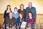 PROUD: What a great night for the family of Mariah Curtin (Knocknagoshel) as she was presented with the kerry Garda Youth Acheivement Award) on Friday night in the Brandon Hotel, Tralee. Front l-r: Donal, Mariah and Sheila Curtin. Back l-r: Katherine Curtin, Daragh Curtin, Peggy and Charlie Keane..........