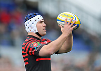 Schalk Brits prepares to throw into a lineout. Aviva Premiership match, between Saracens and London Welsh on March 3, 2013 at Allianz Park in London, England. Photo by: Patrick Khachfe / Onside Images