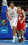 French national basketball team player Noah Joakim reacts during semifinal basketball game between France and Russia in Kaunas, Lithuania, Eurobasket 2011, Friday, September 16, 2011. (photo: Pedja Milosavljevic)