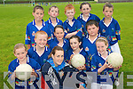 CUL KIDS: Young football stars from Milltown enjoying the Kerry GAA VHI Cul Camp in Milltown  on Thursday last..Front row L/r. Amy Foley, Tara Pigott..Second row L/r. Niamh Farrell, Megan Sayers, Katie Doyle, Adele O'Sullivan, Ciarain Sayers..Back L/r. Daniel Ashe, Sean Cremins, Luke Heffernin, Clodagh McKenna and Daniel Cronin.   Copyright Kerry's Eye 2008
