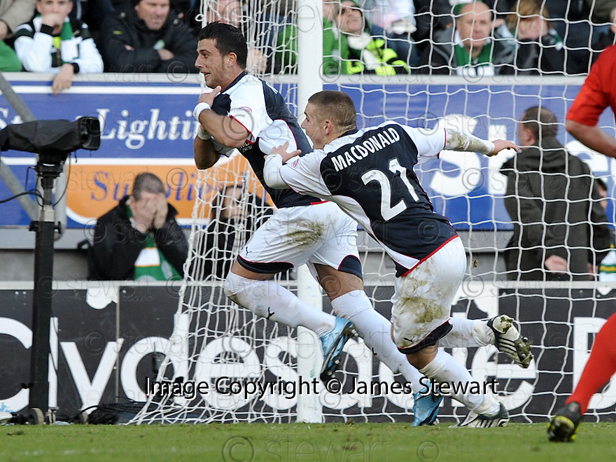 08/11/2009  Copyright  Pic : James Stewart.sct_jspa17_falkirk_v_celtic  . :: PEDRO MOUTINHO CELEBRATES AFTER HE SCORES FALKIRK'S SECOND :: .James Stewart Photography 19 Carronlea Drive, Falkirk. FK2 8DN      Vat Reg No. 607 6932 25.Telephone      : +44 (0)1324 570291 .Mobile              : +44 (0)7721 416997.E-mail  :  jim@jspa.co.uk.If you require further information then contact Jim Stewart on any of the numbers above.........