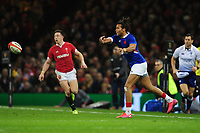 Teddy Thomas of France in action during the Guinness Six Nations Championship Round 3 match between Wales and France at the Principality Stadium in Cardiff, Wales, UK. Saturday 22 February 2020
