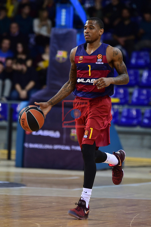 Turkish Airlines Euroleague 2016/2017.<br /> Regular Season - Round 22.<br /> FC Barcelona Lassa vs Galatasaray Odeabank Istanbul: 62-69.<br /> Xavier Munford.