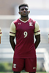28 August 2016: Elon's Jaiden Fortune. The Elon University Phoenix played the University of San Diego Toreros at Koskinen Stadium in Durham, North Carolina in a 2016 NCAA Division I Men's Soccer match. USD won the game 2-1.