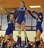Port Washington performs during the varsity segment of the Freeport Devil Winter Cheerleading Competition at Freeport High School on Sat, Dec. 16, 2017.