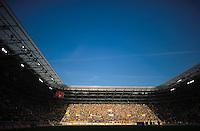 Fussball 2. Bundesliga Saison 2011/2012 13. Spieltag Dynamo Dresden - Karlsruher SC Blick auf den Fanblock Ostfront im Dresdener Gluecksgas Stadion. Dresden droht nach den Ausschreitungen beim Pokalspiel in Dortmund eine Strafe seitens des DFB.