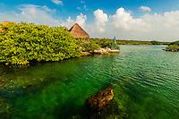 The Caleta Yaku lagoon, near Riviera Maya, Mexico.