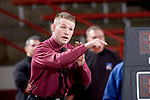 MADISON, WI - JANUARY 19: Assistant coach Donny Pritzlaff of the Wisconsin Badgers wrestling team against the Penn State Nittany Lions at the Field House on January 19, 2007 in Madison, Wisconsin. The Badgers beat the Nittany Lions 17-16. (Photo by David Stluka)