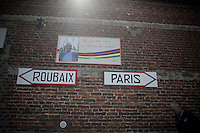 """I have arrived in cycling paradise"": Jean Stablinski, the father of the Roubaix as we now know it today, is remembered in his hometown of Troisvilles (where the first cobbled section of the race starts).<br /> <br /> 114th Paris-Roubaix 2016"