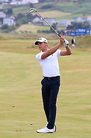 Joakim Lagergren (SWE) on the 18th during Round 3 of the Dubai Duty Free Irish Open at Ballyliffin Golf Club, Donegal on Saturday 7th July 2018.<br /> Picture:  Thos Caffrey / Golffile