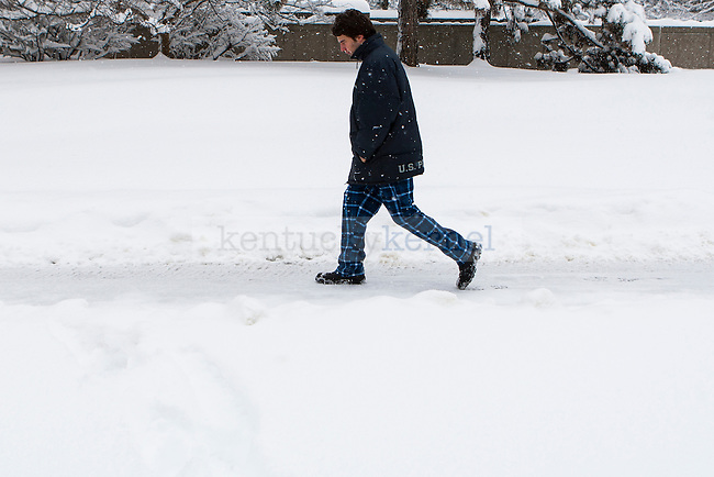 School was cancelled for the 5th time of the 2014-2015 school year due to inclement weather at the University of Kentucky on Thursday, March 5, 2015 in Lexington, Ky. Photo by Michael Reaves | Staff.