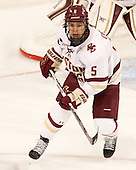 Alex Carpenter (BC - 5) - The Boston College Eagles defeated the visiting UConn Huskies 4-0 on Friday, October 30, 2015, at Kelley Rink in Conte Forum in Chestnut Hill, Massachusetts.