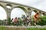 The peleton including Spanish National Champion Jes&uacute;s Herrada (ESP) Cofidis in action during Stage 2 of the 2018 Criterium du Dauphine 2018 running 181km from Montbrison to Belleville, France. 5th June 2018.<br /> Picture: ASO/Alex Broadway | Cyclefile<br /> <br /> <br /> All photos usage must carry mandatory copyright credit (&copy; Cyclefile | ASO/Alex Broadway)