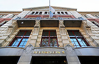 Nederland Amsterdam 2015 10 27.  Beursplein 5 . Interieur van de Amsterdamse Effectenbeurs op Beursplein 5. Het gebouw is een ontwerp van Joseph ( Jos ) Cuypers. De Beurs werd geopend in 1913.  Foto Berlinda van Dam / Hollandse Hoogte