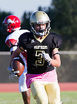 Palos Verdes, CA 10/27/17 - Zach McGuinness (Peninsula #3)in action during the Morningside Monarchs - Palos Verdes Peninsula Varsity football game at Peninsula High School.