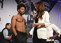 LOS ANGELES - SEPTEMBER 27: Shawn Porter and Heidi Androl attend the weigh-in for the September 28 Fox Sports PBC Pay-Per-View fight night in Los Angeles, California. (Photo by Frank Micelotta/Fox Sports/PictureGroup)