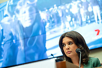 U.S. Correspondent for Seven News Australia Amelia Brace watches a video as she makes an opening statement during a House Natural Resources Committee hearing on Monday, June 29, 2020 to discuss the recent incident with U.S. Park Police removing protesters and journalists on June 1st at St. John's Episcopal Church near the White House for President Trump to conduct a photo op.<br /> Credit: Bonnie Cash / Pool via CNP / MediaPunch