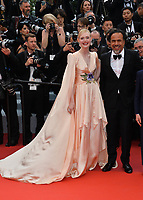 """CANNES, FRANCE. May 14, 2019: Elle Fanning & Alejandro Gonzalez Inarritu at the gala premiere for """"The Dead Don't Die"""" at the Festival de Cannes.<br /> Picture: Paul Smith / Featureflash"""