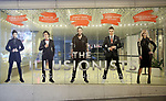 """Theatre Marquee for Broadway's """"The Illusionists—Magic of the Holidays"""" on stage for a press preview at the Marquis Theatre on November 27, 2018 in New York City."""