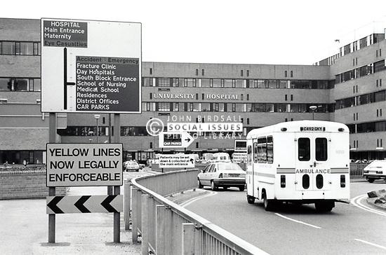 Ambulance, University Hospital, Nottingham UK 1995