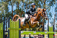 NZL-Aimee Collinson rides Moonlight Glow. Class 24 Country TV Pony Premier Grand Prix. 2020 NZL-Collinson Forex Premier Show Jumping At Woodhill Sands. Helensville. Sunday 12 January. Copyright Photo: Libby Law Photography
